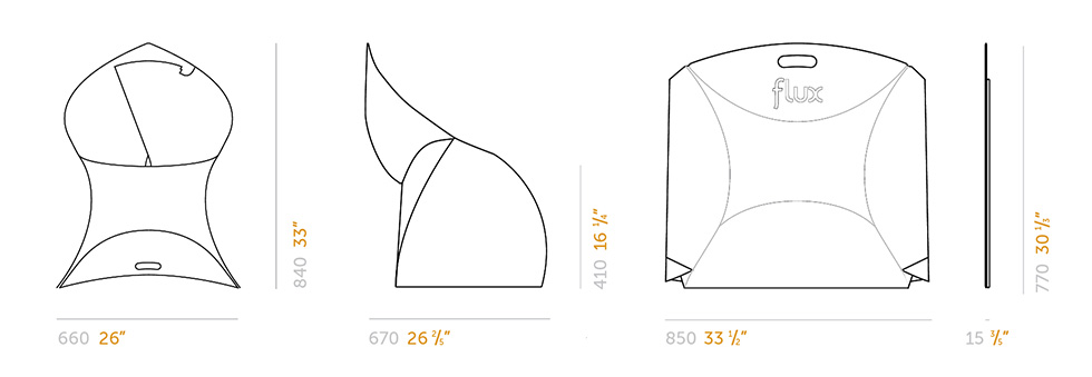 Flux-Chair-Chaise-pliable-Dimensions-980x339