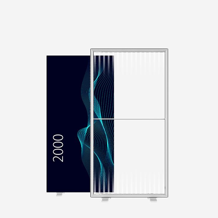 Lucid Lightbox 9501-200 100x200 caisson lumineux textile