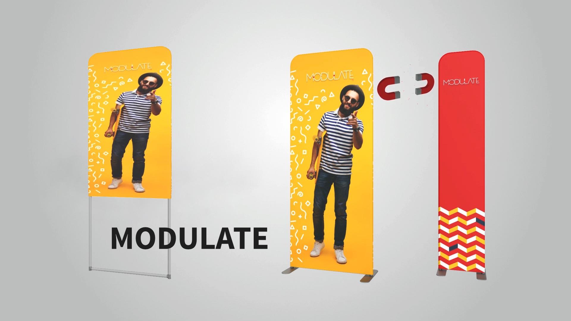 Modulate structure textile magnétique