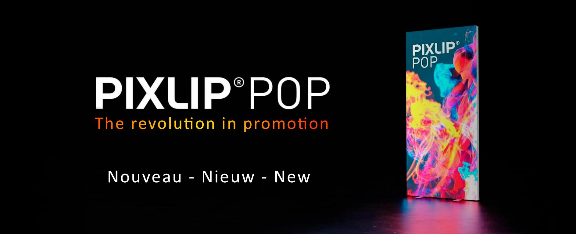 PIXLIP POP TEXTILE LED roll-up