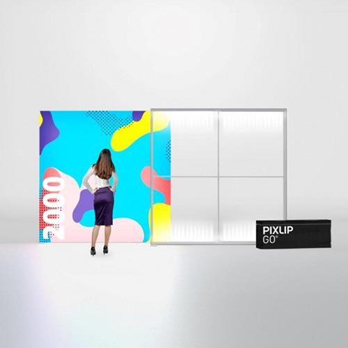 Pixlip GO Lightbox 156006 200x200 cadre lumineux textile