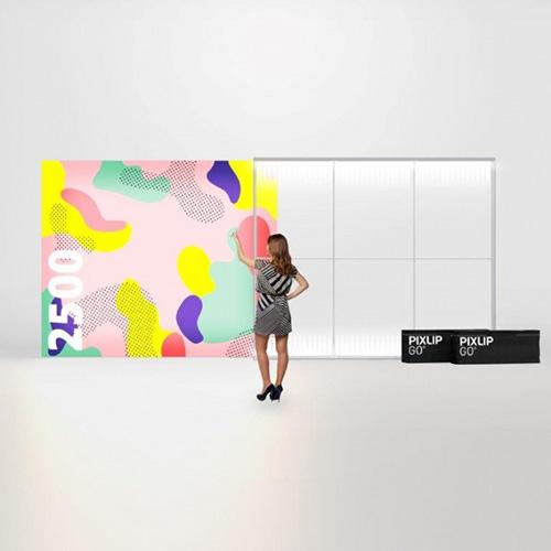 Pixlip GO Lightbox 156010 300x250 cadre lumineux textile
