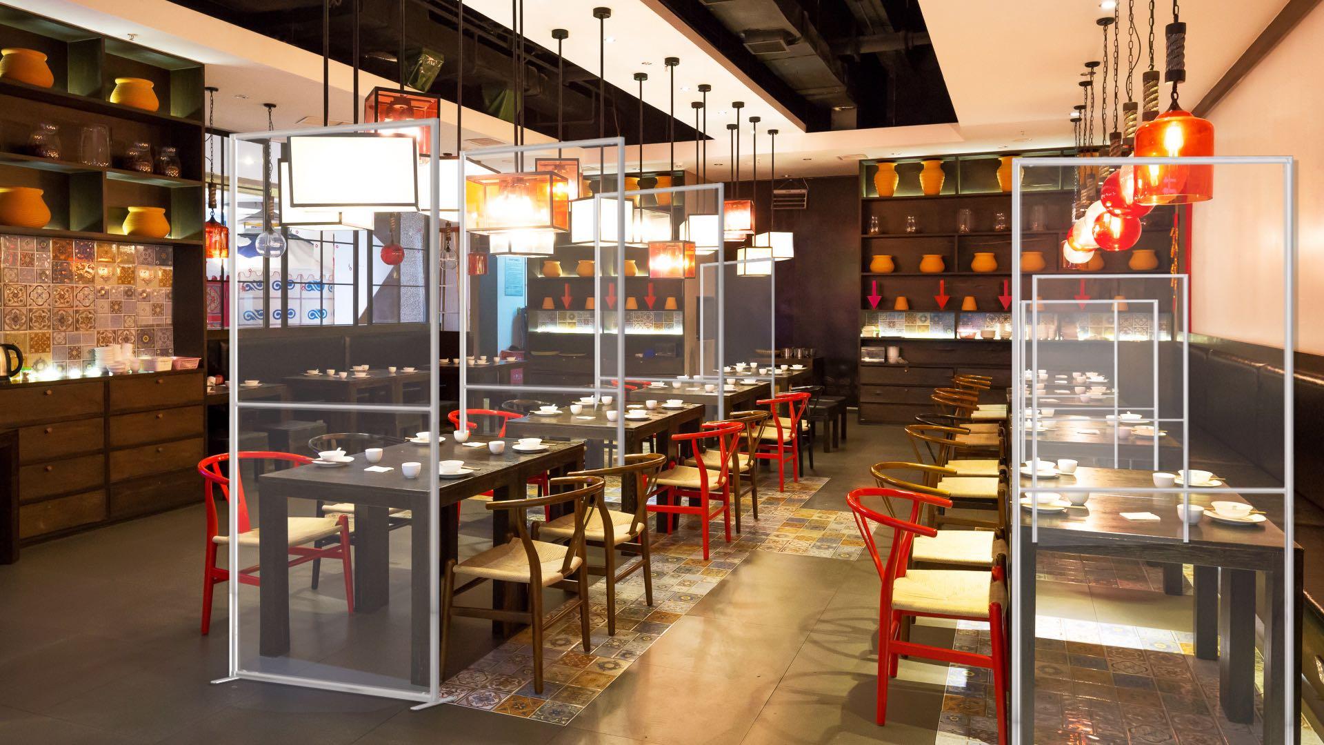 Q-fram-panneau-protection-isolation-covid-19-coronavirus-réception-restaurant
