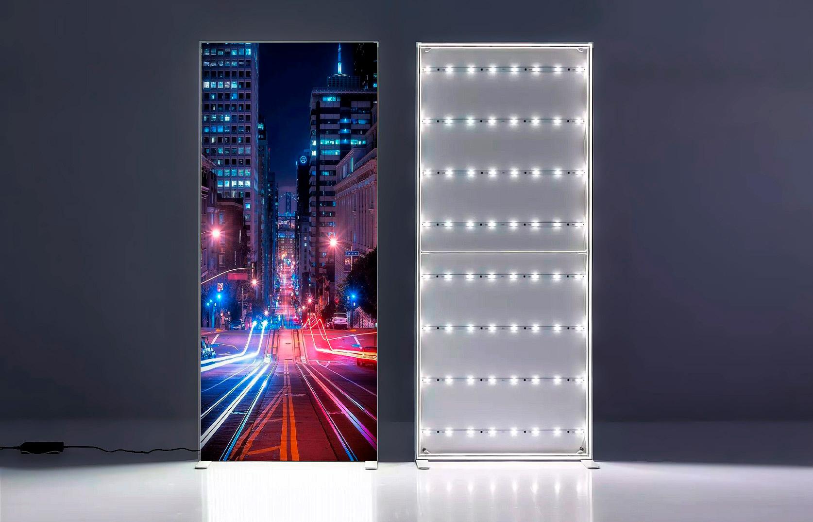 SEGO 60 Mobile Backlit LED lightbox textile