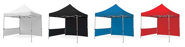 Zoom-Tent Colors blanc noir bleu rouge