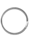 attache cordon badge anneau métal