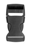 attache cordon badge boucle détachable plastique noir