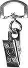 attache cordon badge clip métal crocodile
