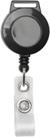 attache cordon badge zip noir