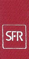 cordon badges polyester tissé fin