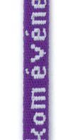 cordon badges rond tissé jacquard 5mm