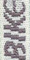 cordon badges tissé jacquard non double