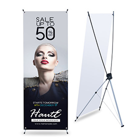 x-banner stand auto-portant pas cher