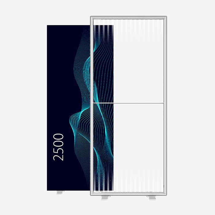 Lucid Lightbox 9501-250 100x250 caisson lumineux textile