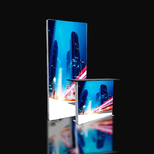 Lucid lightbox textile caisson lumineux basic stand