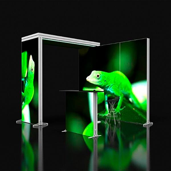 Lucid lightbox textile caisson lumineux stand bridge