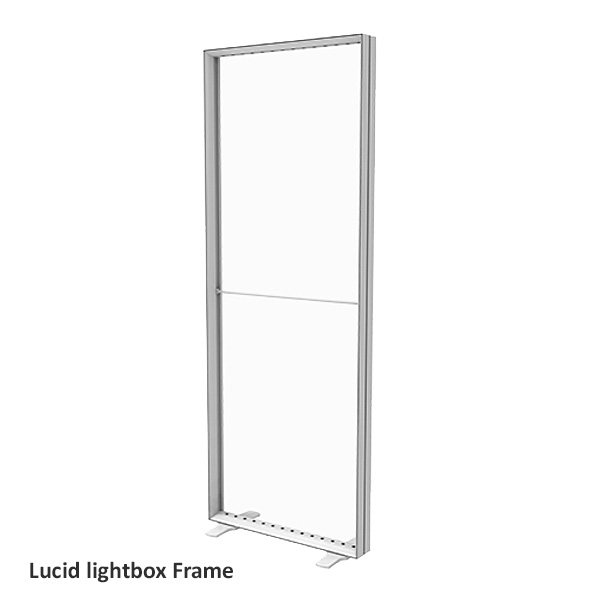 Lucid lightbox textile frame cadre caisson lumineux tissu