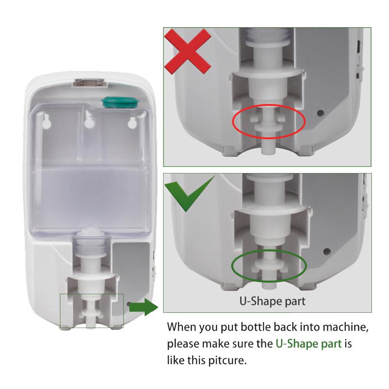 Mini stand station gel desinfectant hydroalcoolique dispenser 1000ml HS-1806