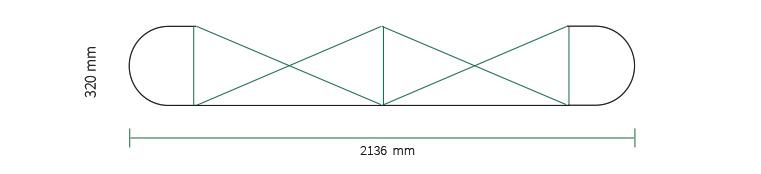 Stand parapluie Smart pop-up magnetic 2x3 droit straight