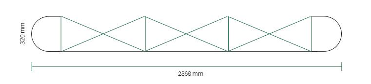 Stand parapluie Smart pop-up magnetic 3x3 droit straight