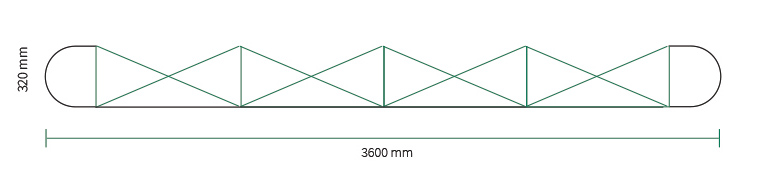 Stand parapluie Smart pop-up magnetic 4x3 droit straight