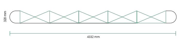 Stand parapluie Smart pop-up magnetic 5x3 droit straight