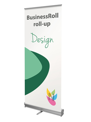 roll-up budget businessroll design visuel inclinable