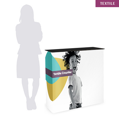 comptoir pliable promotionnel e tissu wood textile counter