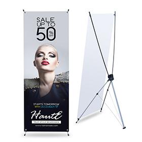 x-banner stand auto-portant pas cher